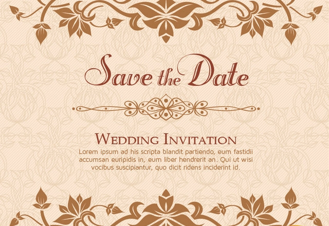 10 Free Vector PSD Floristic Wedding Invitation Card Designs – Invitation Designs