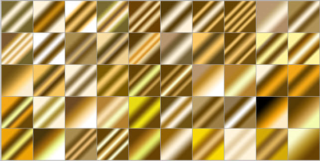 golden metal gradient