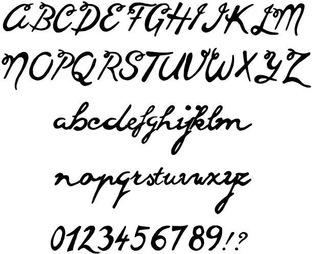 Download Free Cursive Handwriting Font