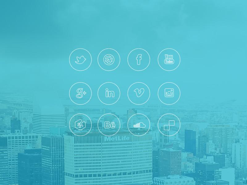 iOS 7 style social icon