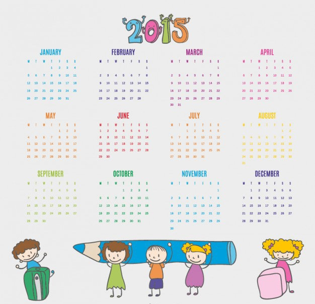 kids-drawn-calendar-2015_23-2147496310