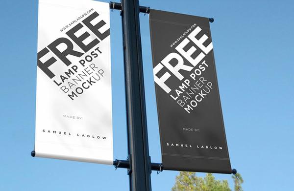 lamp-post--banner-mockup