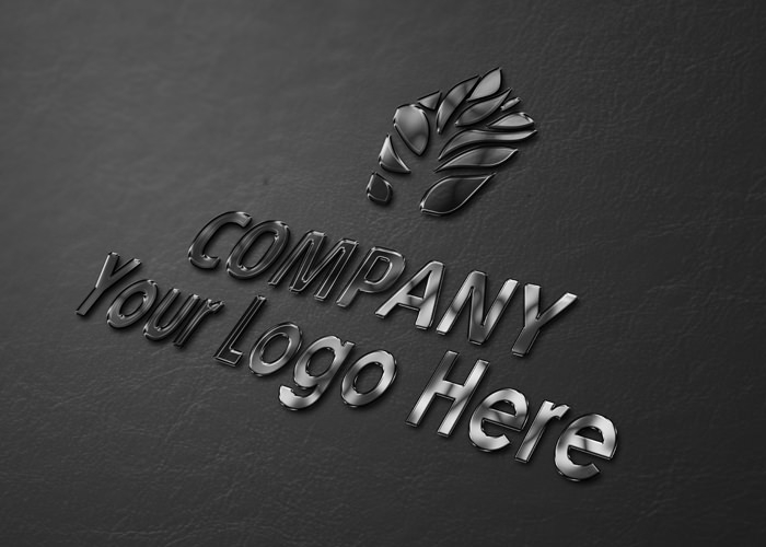 Free Simple 3D Logo Mockup (PSD)