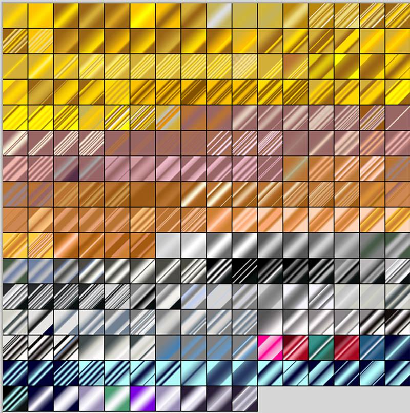 Free Paint Shop Pro Metallic Gradients Download