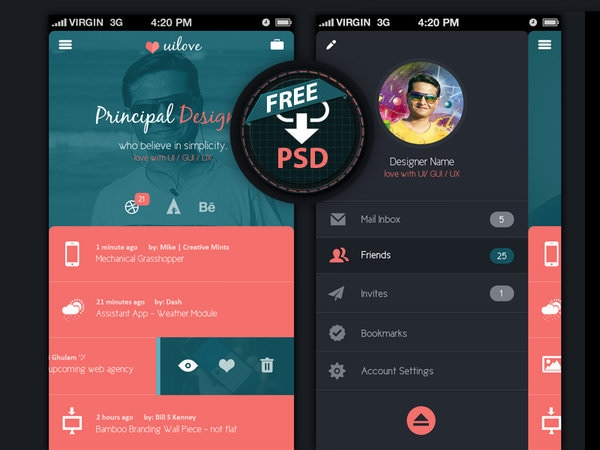 25 App Profile Page Designs Psd Vector Eps Jpg