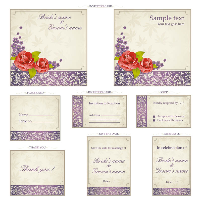 ornamental-wedding-invitations-vector