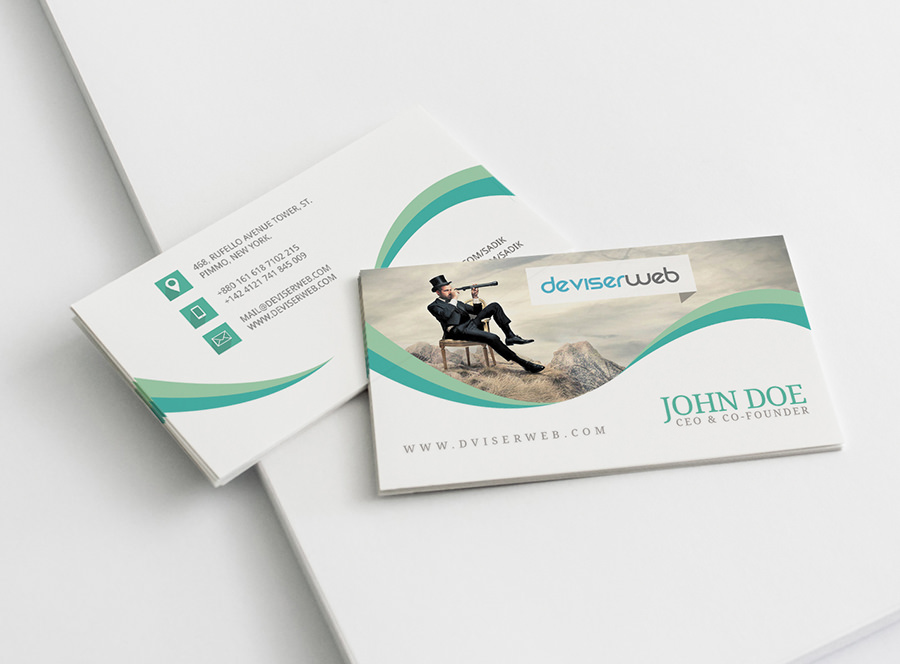 Unique Stylish PSD Corporate Business Card Designs For Free - Download free business card template