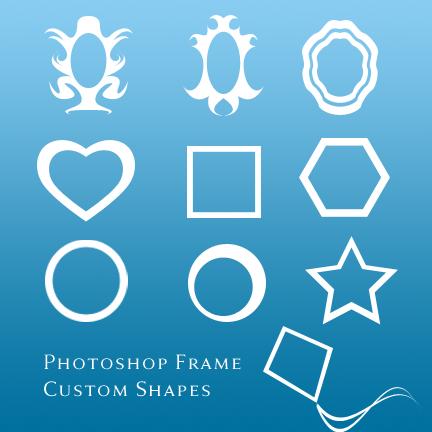 photoshop frames custom shapes