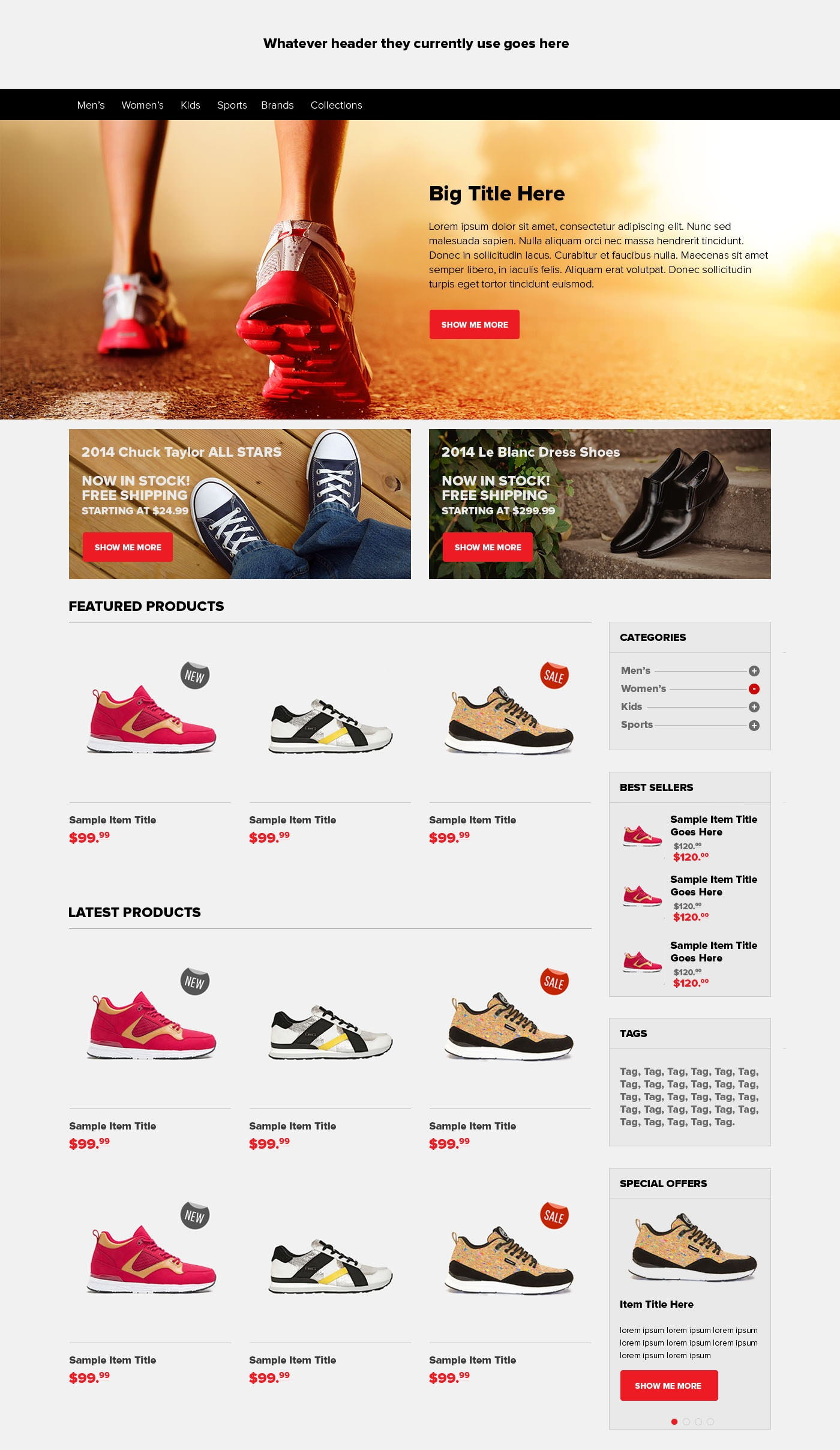 shoes ecommerce