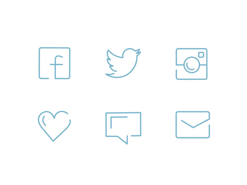Hand Drawing Line Icons : Free vector psd social media outline icons