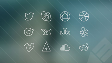65+ Free Vector PSD Social Media Outline Icons | Free & Premium