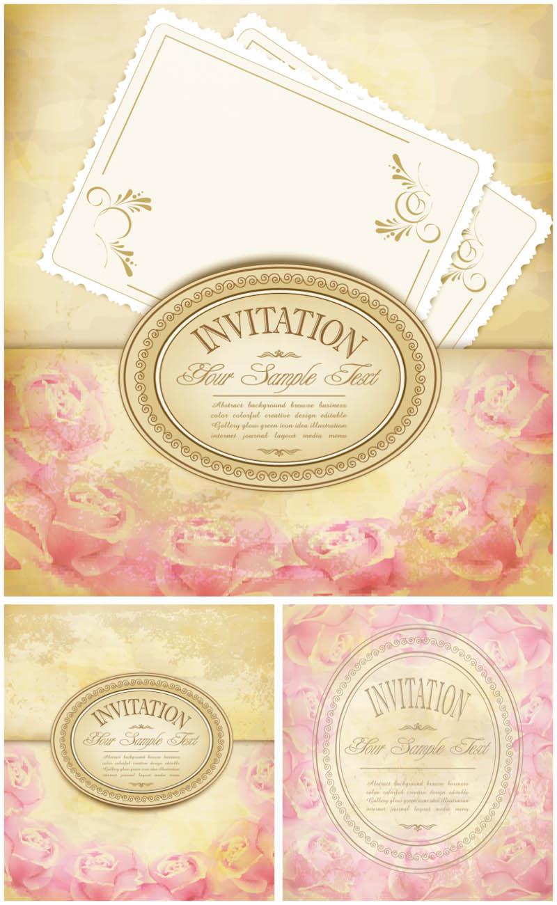vintage-floral-invitations-vector