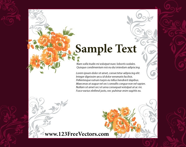 10 Free Vector PSD Floristic Wedding Invitation Card Designs – Free Wedding Invitation Cards Templates