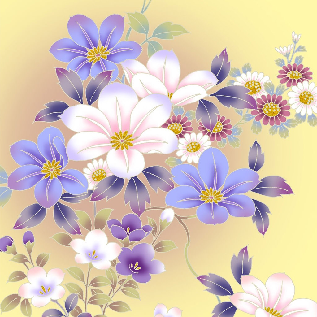 Free Vintage Floral Desktop Wallpaper