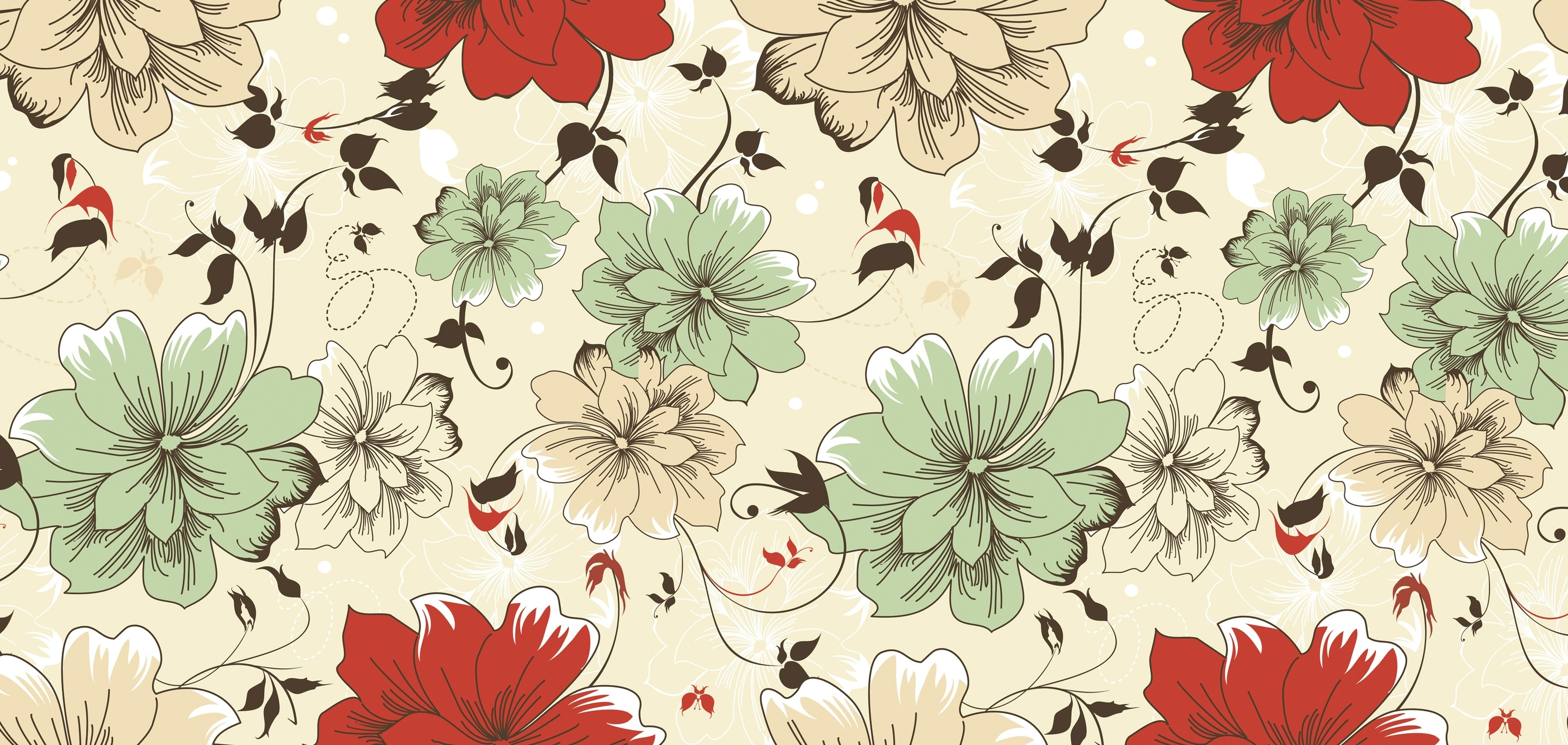 Download 15 free floral vintage wallpapers for Wallpaper home vintage