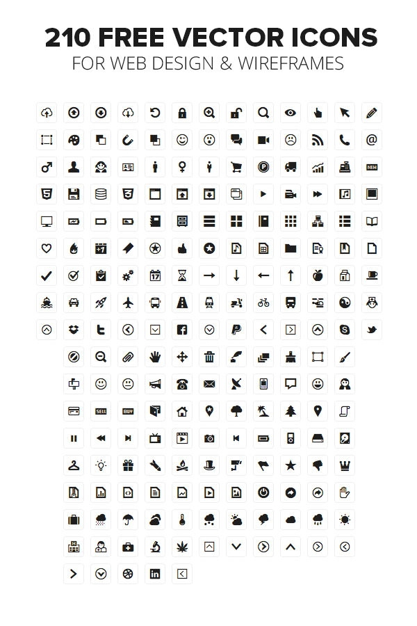1900+ Free Vector Wireframe Icons Including Illustrator UI Icons ...