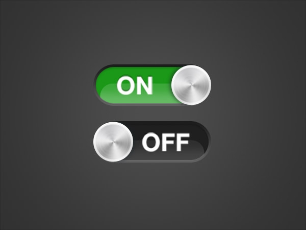 15 Free PSD Toggle Button Designs