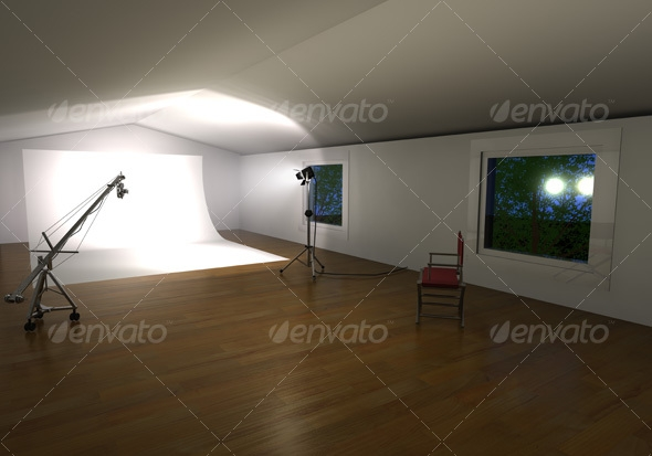 3D Photo Studio Background