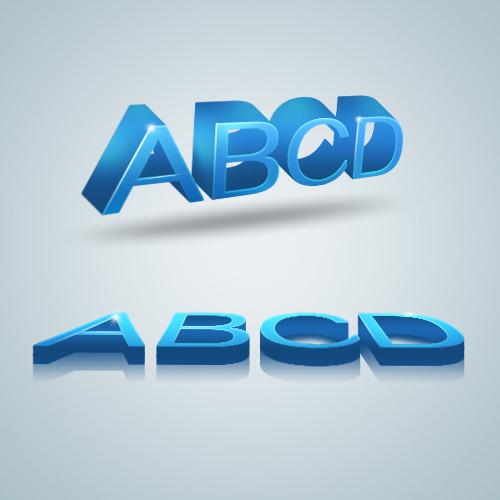 3D-blue-alphabet-creative-psd-material