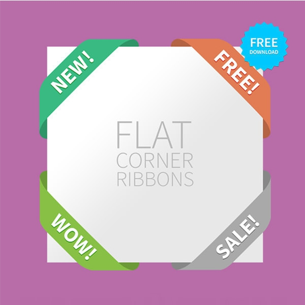 4_silky_web_ui_flat_corner_ribbons_set_by_hazzbrogaming-d7eewr1
