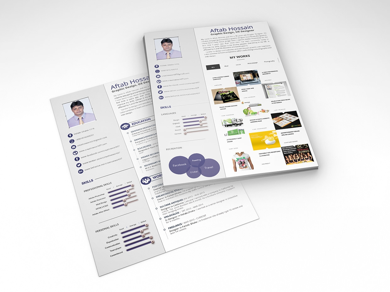 resume template designs creatives creative cv 2 page resume template design