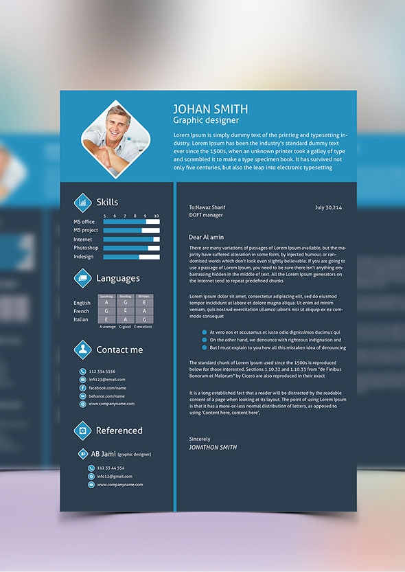 Download Graphic Designeru0027s Resume Psd Template Design