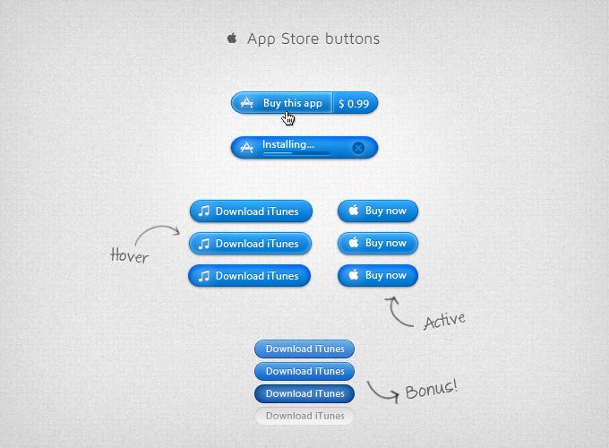 AppStorebuttons365psd