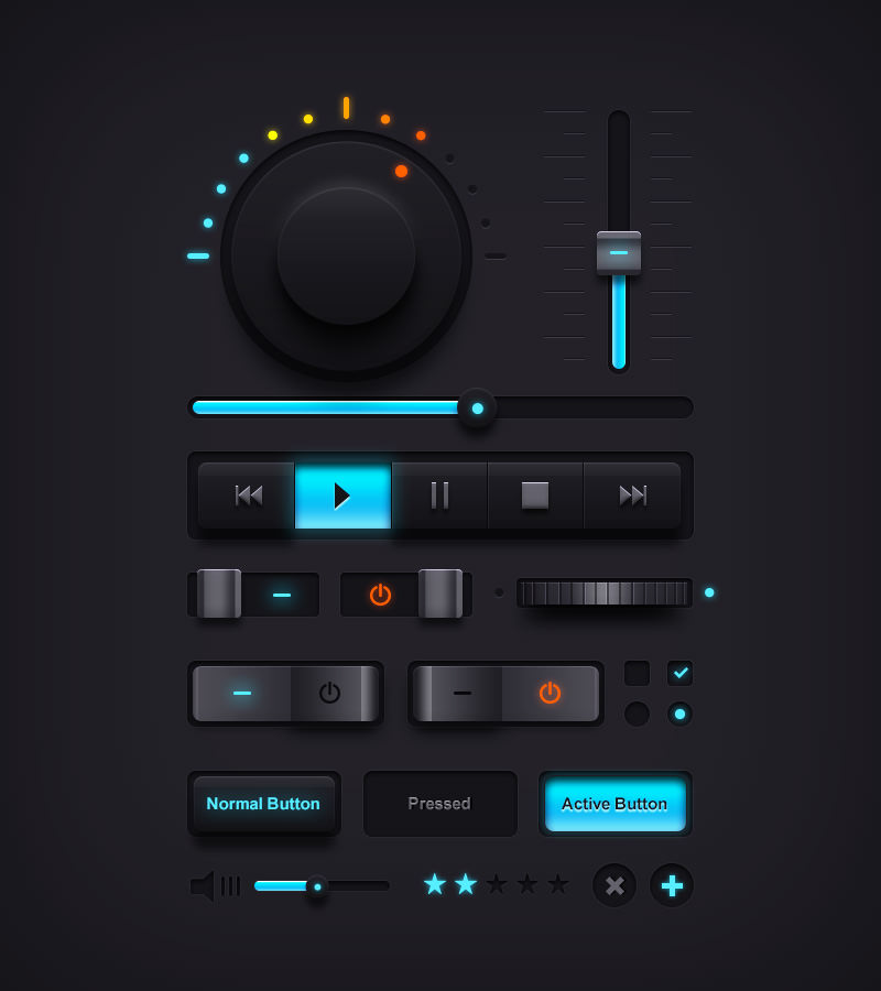 Black-and-Blue-Audio-Player-GUI-PSD