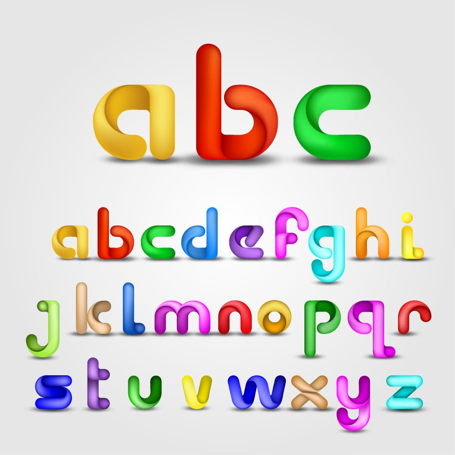 Bright colored alphabet vector (5) [转换]-01