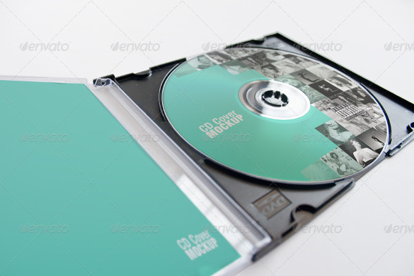 CD Cover Mockup PSD