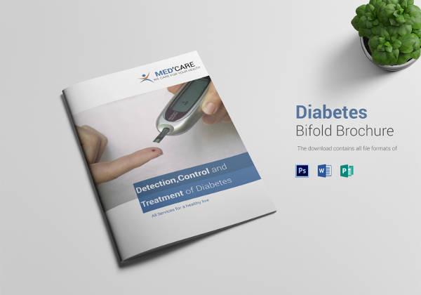 Diabetes Bi Fold Brochure Template