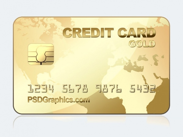 Download Free Gold Credit Card Design