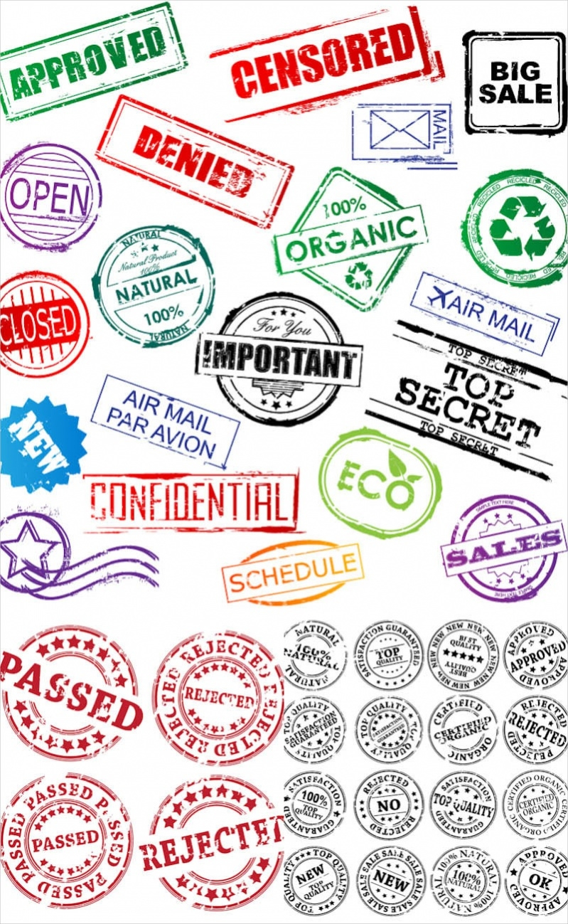 Download Free Vector Stamp Designs