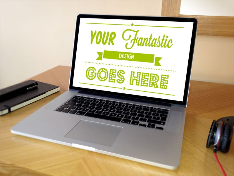 Fantastic Macbook Desktop Design Mockup