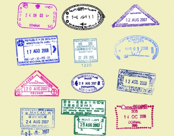Free Vector Passport Stamp Designs