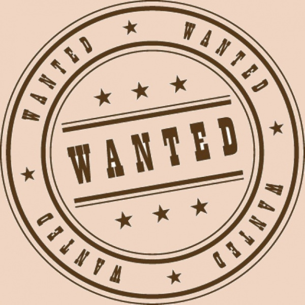 Free Vector Wanted Stamp Design