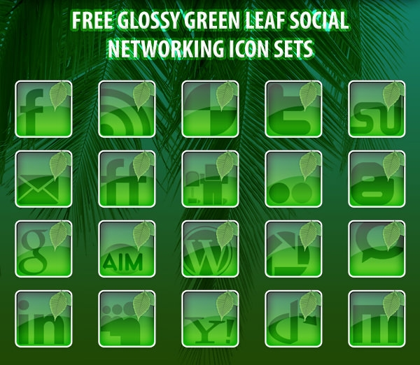Free_Glossy_Green_Leaf_Social_Networking_Icon_Set-by_Djdesignerlab