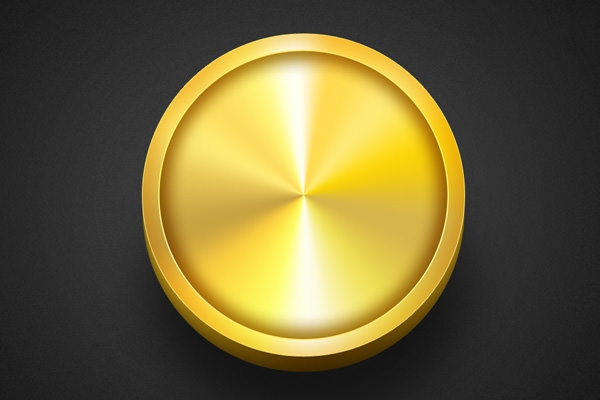 Golden-Button-Template-PSD