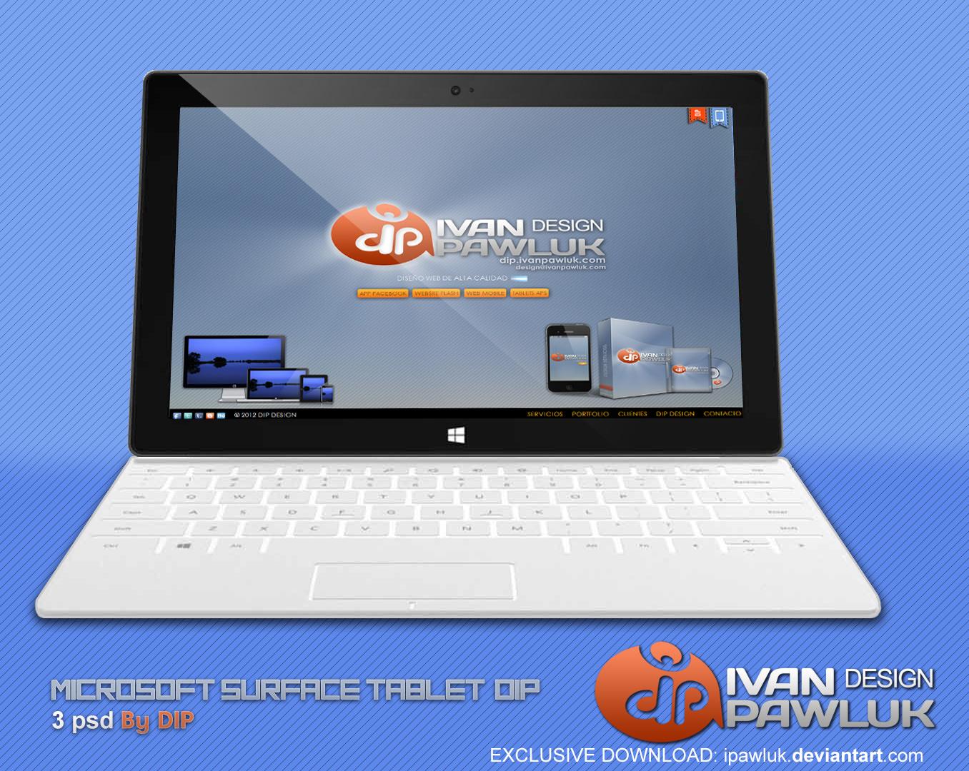 Microsoft-Surface-Tablet-DIP---PSD