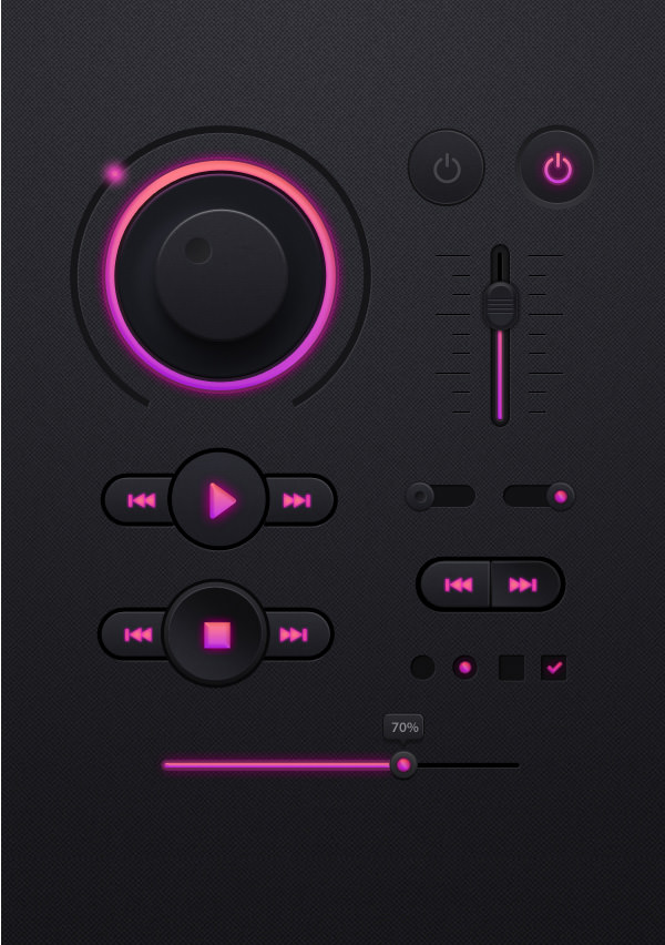 Music-player-UI-kit-PSD