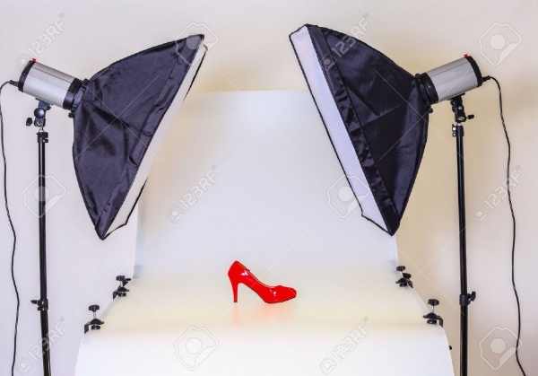 Photo table for product photography in a studio