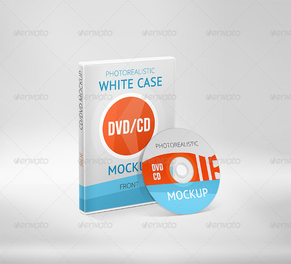 Photorealistic White Case CD DVD Mockup