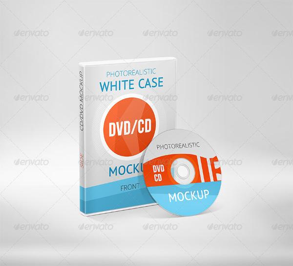 photorealistic white case cd dvd mockup