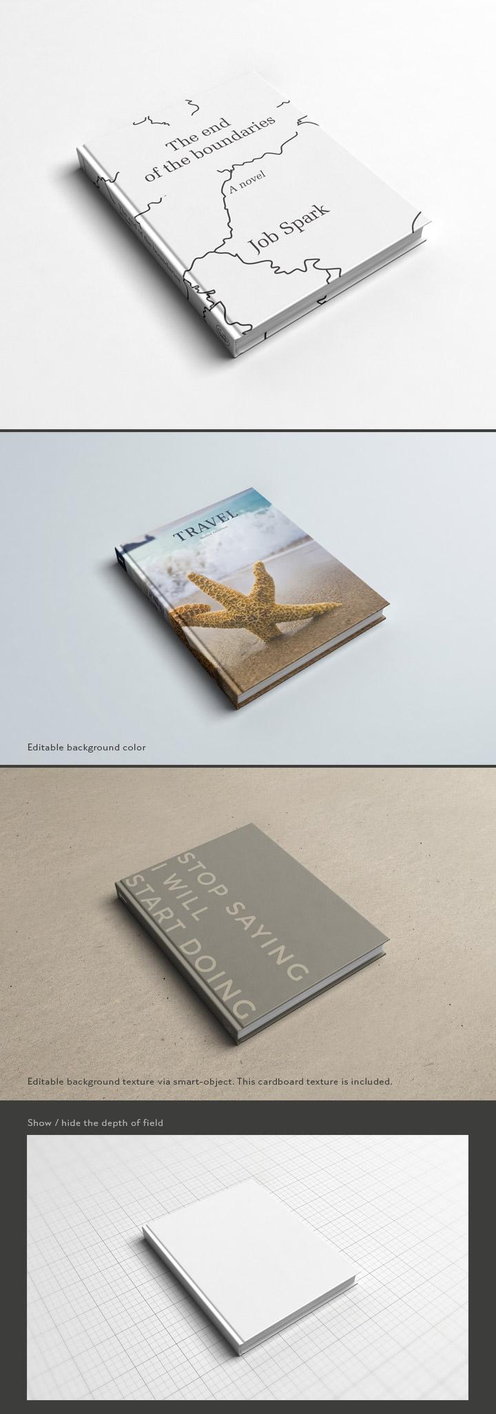 Book Cover Design Mockup Psd : Book cover mockup freecreatives