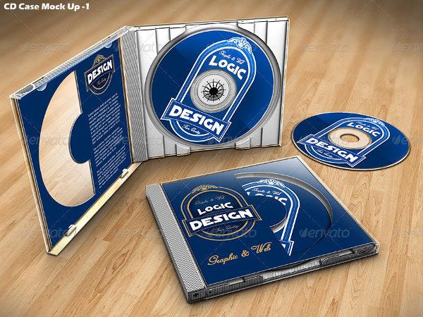 realistic cd case cover mockup