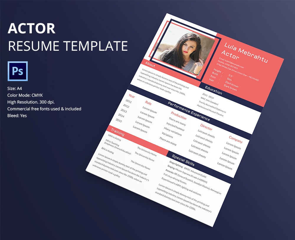 awesome resume design psd