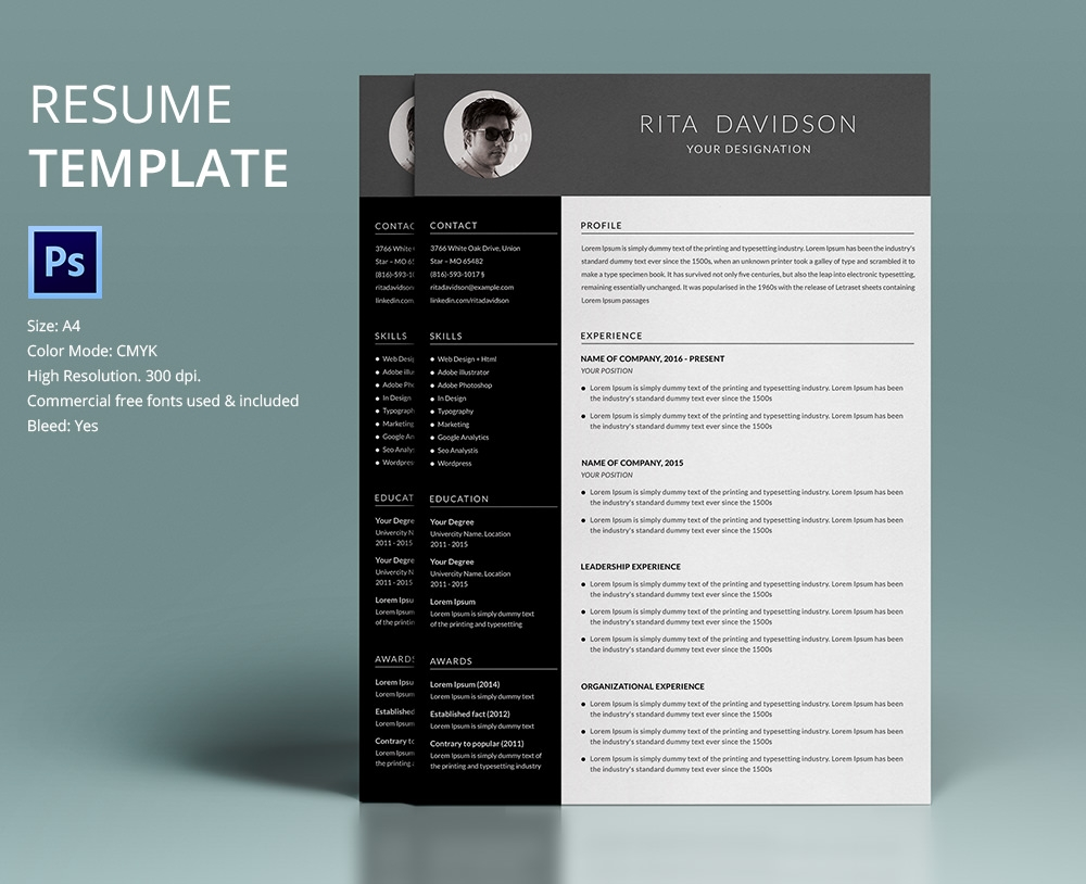 Free Downloadable Resume Design For Web Designers