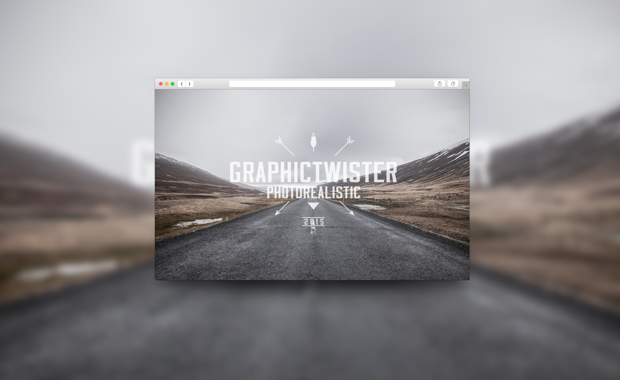 Safari-Browser-Template-blurred-background