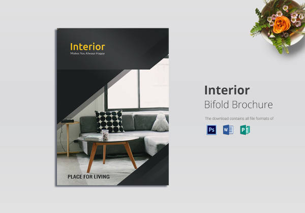 Superior Sample Bi Fold Interior Brochure Template