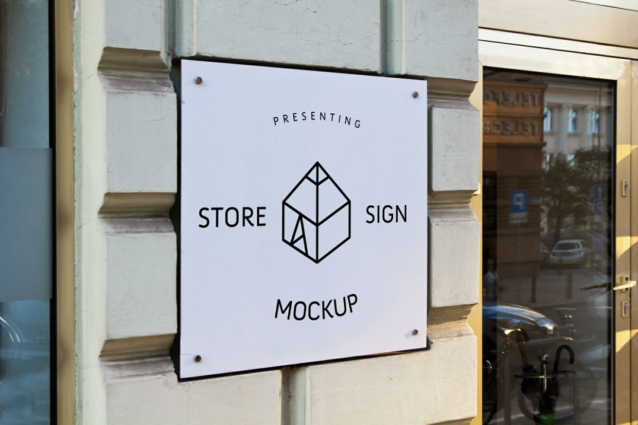 Download 42 Free PSD Shop Signage Mockups